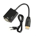 HDMI į VGA + Audio adapteris Kabeliai ir Adapteriai