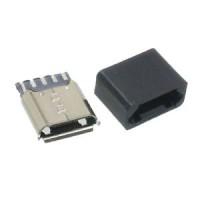 Micro USB lizdas lituojamas El. komponentai