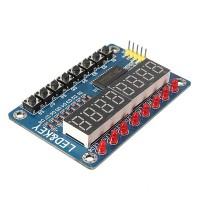 Informacinė valdymo panelė TM1638 Atvirojo kodo elektronika