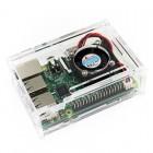 Raspberry Pi 3 dėklas + 2 radiatoriai Atvirojo kodo elektronika