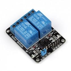 5V 2-Kanalų relinis modulis Elektroninės plokštės