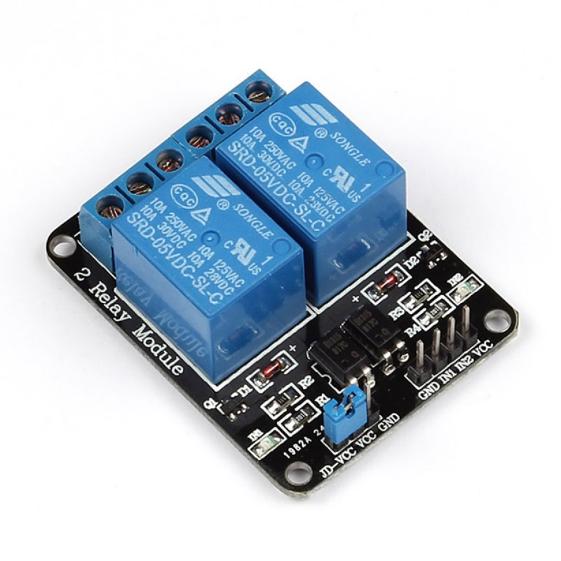 5V 2-Channel Relay Interface for Arduino
