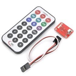 IR nuotolinio valdymo modulis su pulteliu Atvirojo kodo elektronika