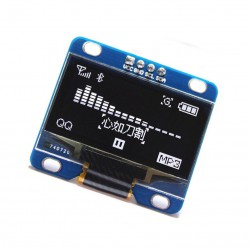 "0.96"" OLED LCD Ekranas 128X64 baltas"