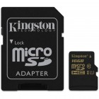 Kingston microSDHC 16GB UHS-1 90/45Mbps