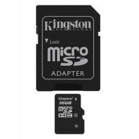 KINGSTON 16GB microSDHC Class 4 Flash Card Atminties kortelės SD microSD