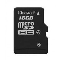 KINGSTON 16GB microSDHC Class 4 Flash Card Single Pack without adapter Atminties kortelės SD microSD