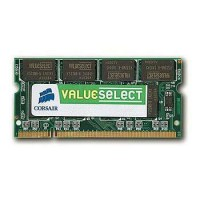 CORSAIR DDR2 800 MHz 2GB 200 SODIMM Unbuffered CL5 RAM atmintis