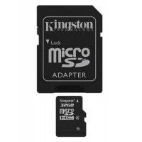 KINGSTON 32GB microSDHC Class 4 Flash Card Atminties kortelės SD microSD