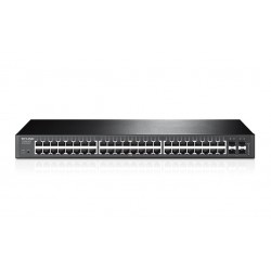 TP-LINK 48-port Pure-Gigabit Smart Switch, 48 10/100/1000Mbps RJ45 ports including 4gigabit SFP  slots Tinklo įranga