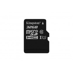 KINGSTON 32GB microSDHC Class10 UHS-I 45R Flash Card Single Pack w/o Adapter Atminties kortelės SD microSD