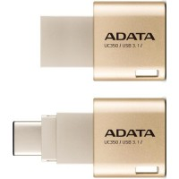 A-DATA UC350 32GB USB3.1 Golden OTG Switchable Type-A and Type-C USB 3.1 USB atmintinės