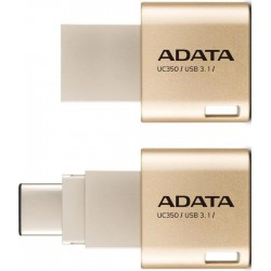 A-DATA UC350 64GB USB3.1 Golden OTG Switchable Type-A and Type-C USB 3.1 USB atmintinės