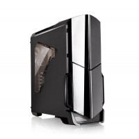 THERMALTAKE Versa N21 Midi Tower PC Case, stylish and interesting design, reflective paint, transparent front, tool-free design Korpusai ir priedai