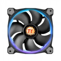 THERMALTAKE Riing 14 LED RGB high performance casefan 140x140x25mm RGB LED Noise 28.1 dBA with LNC Korpusai ir priedai