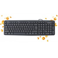 DEFENDER Wired keyboard Element HB-520 PS/2 RU black full-sized Pelės ir klaviatūros