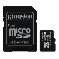 KINGSTON 32GB microSDHC UHS-I Class 10 Industrial Temp Card + SD Adapter Atminties kortelės SD microSD