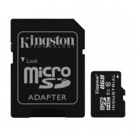 KINGSTON 8GB microSDHC UHS-I Class 10 Industrial Temp Card + SD Adapter Atminties kortelės SD microSD