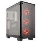 CORSAIR Crystal Series 460X RGB Tempered Glass Compact Mid-Tower ATX Case Korpusai ir priedai