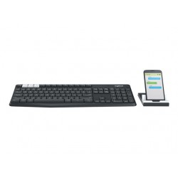 LOGITECH K375s Multi-Device Wireless Keyboard and Stand Combo - GRAPHITE/OFFWHITE - 2.4GHZ/BT (US) INTNL Pelės ir klaviatūros
