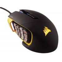 CORSAIR Scimitar Pro RGB Gaming Mouse Optical up to 16000 dpi Key Slider Mech Buttons 4 Zone RGB Yellow Pelės ir klaviatūros