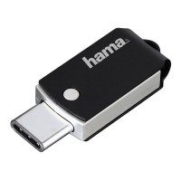 HAMA FlashPen C-Turn 16GB Type-C USB 3.1/USB 3.0 100 MB/s Black/Silver USB atmintinės