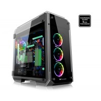 THERMALTAKE View 71 TG RGB Full Tower Case front-top I/O ports with Tool-free installation high gloss full tempered glass 4 windows Korpusai ir priedai