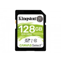 KINGSTON 128GB SD Canvas Select Class 10 UHS-I speed upto 80MB/s read flash card Atminties kortelės SD microSD