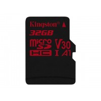 KINGSTON 32GB microSDHC Canvas React 100R/70W U3 USH-I V30 A1 Card without SD adapter Atminties kortelės SD microSD