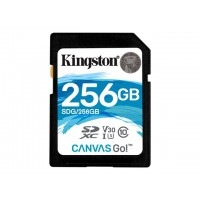 KINGSTON 256GB SDXC Canvas Go 90R/45W CL10 U3 V30 Atminties kortelės SD microSD