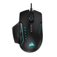CORSAIR GLAIVE RGB PRO Comfort FPS/MOBA Gaming Mouse with Interchangeable Grips Black Backlit RGB LED 18000 DPI Optical (EU) Pelės ir klaviatūros