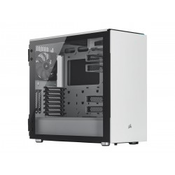 CORSAIR Carbide Series 678C Low Noise Tempered Glass ATX Case White Korpusai ir priedai