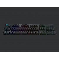 LOGITECH G915 LIGHTSPEED Wireless RGB Mechanical Gaming Keyboard – GL Linear - CARBON - US INTNL - INTNL Pelės ir klaviatūros